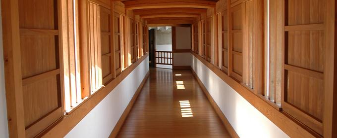 pasillo madera