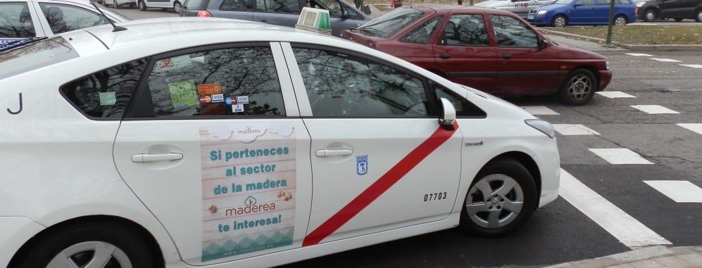taxi anuncio maderea