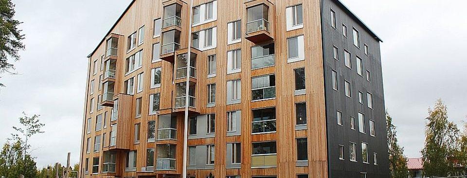 Edificio en altura de madera en Jyväskylä Finlandia