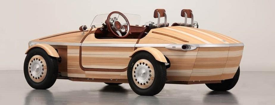 coche madera cedro