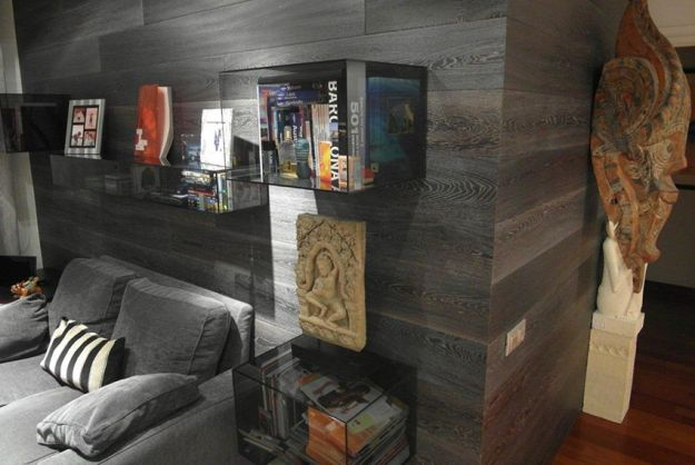 shou-sugi-ban-pared madera