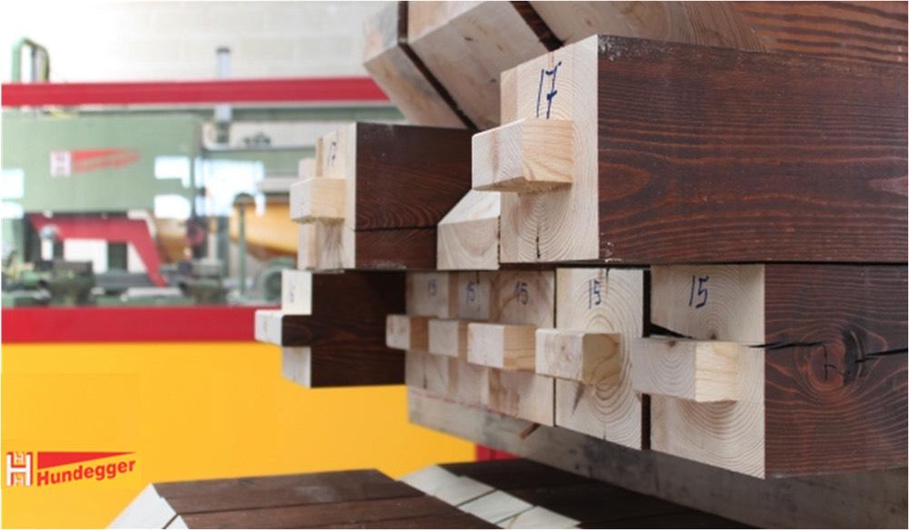 montar estructura madera pino