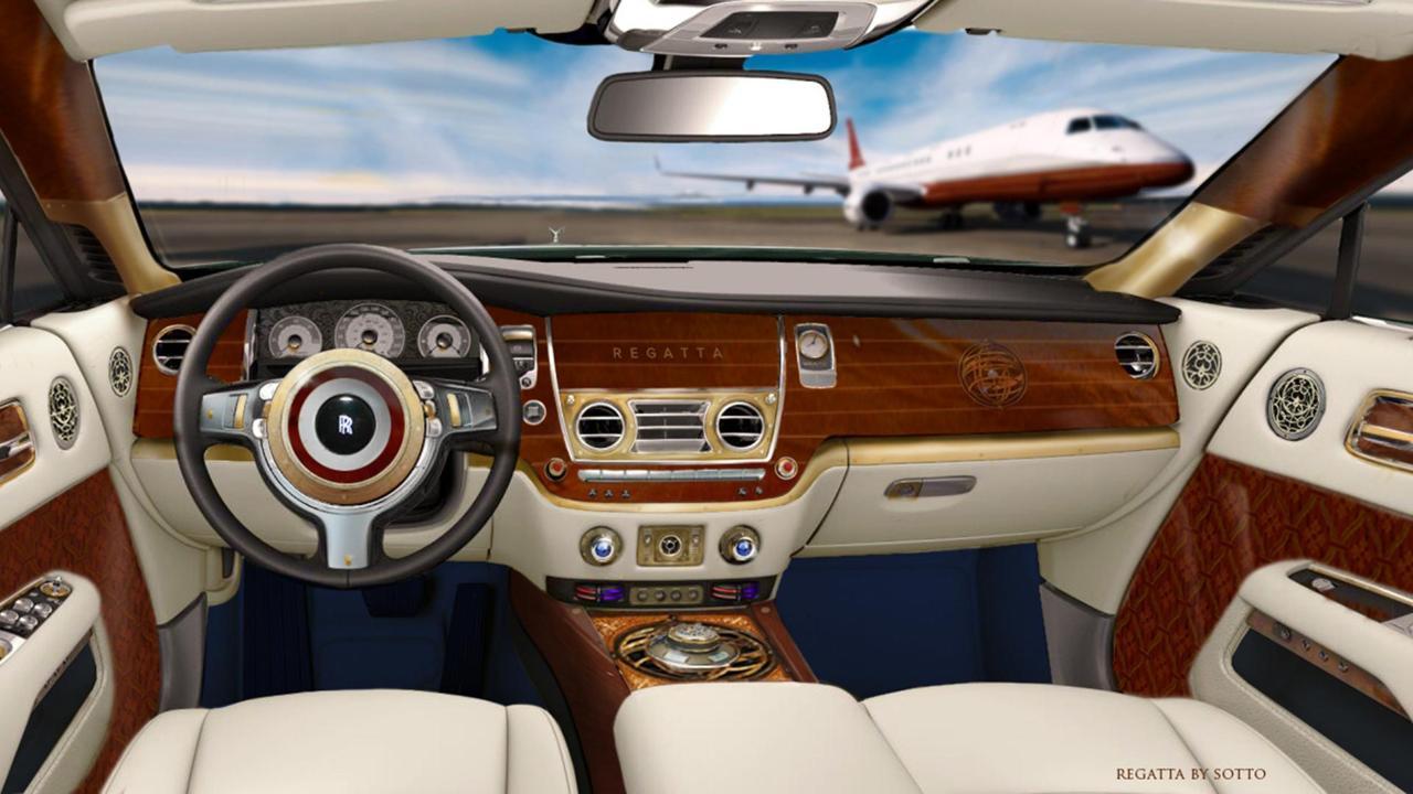 coche madera rolls royce