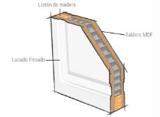 puerta de madera hueca