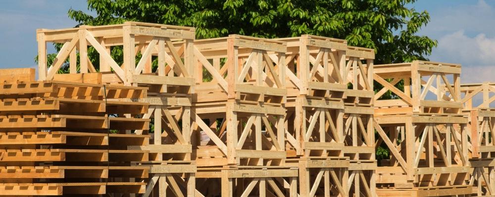 Tipos de embalajes de madera