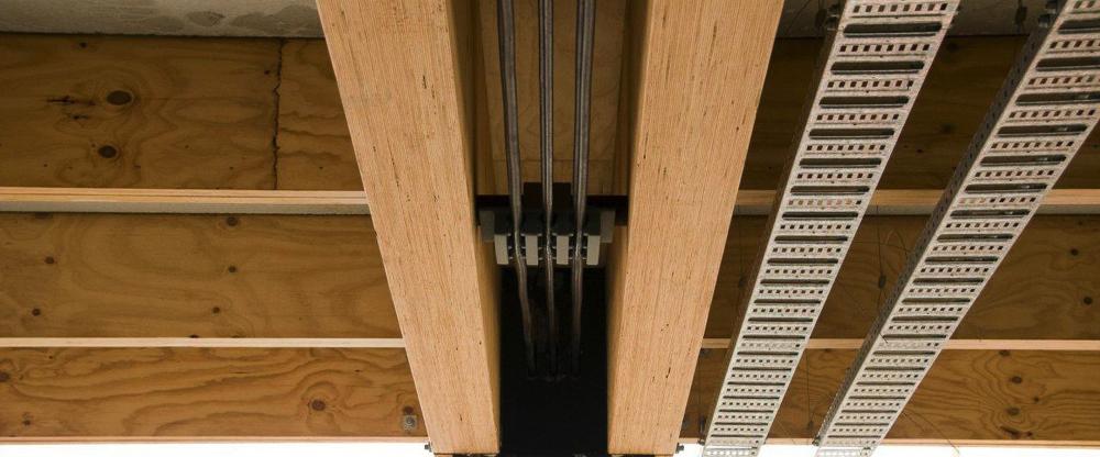 Estructura madera laminada awesome amplia oferta de panel - Estructura tejado madera ...