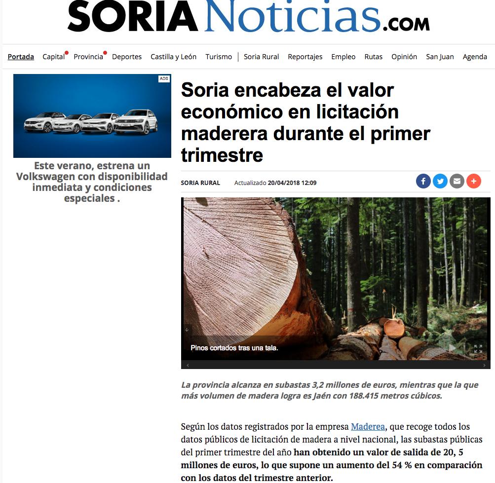 precios madera subastas soria