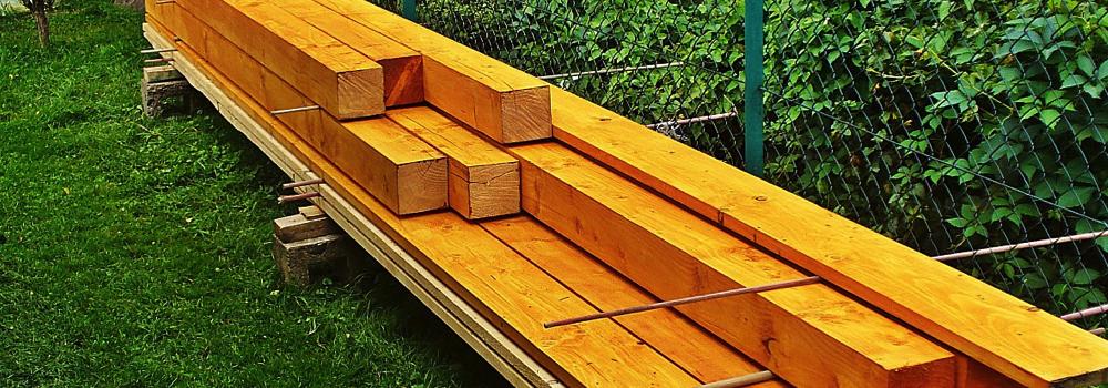 puesta en obra madera almacenamiento