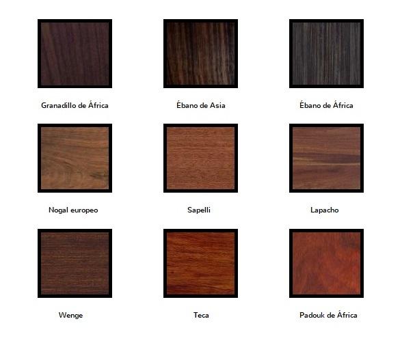 especies de maderas oscuras