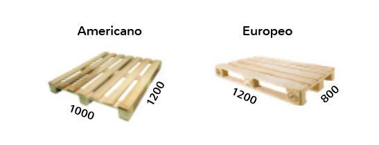Palets americano y palet europeo