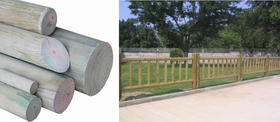 postes de madera para vallas