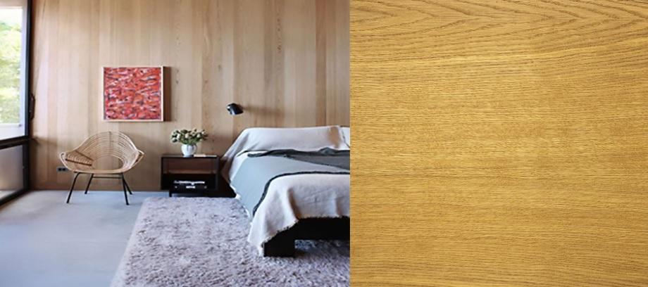 revestimiento interior de madera de roble