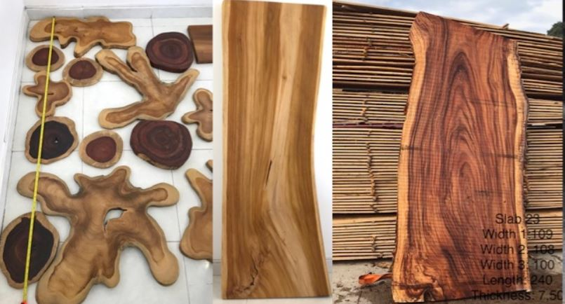madera aserrada de teca