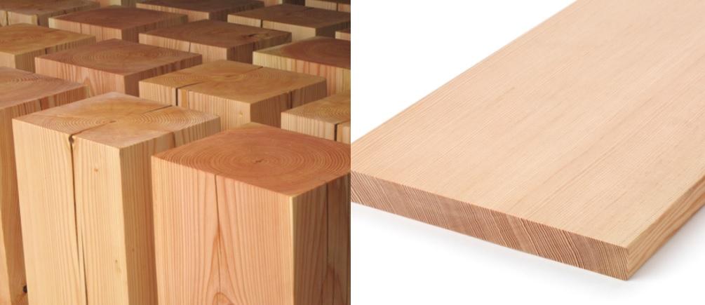 madera de abeto en exterior