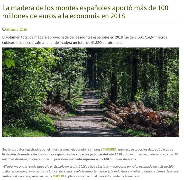 madera subastada españa