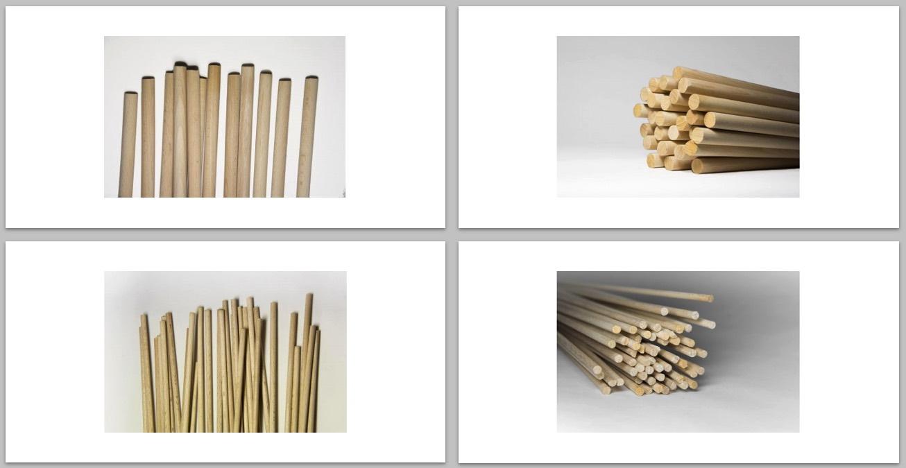 varillas de madera