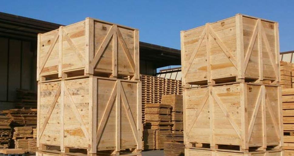Embalaje industrial de madera